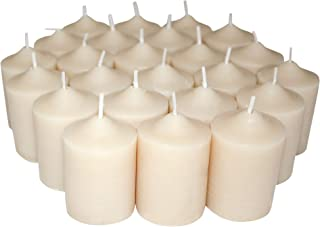 Enlightened Ambience Italian Fig Highly Scented Ivory Votive Candles 24 Pack
