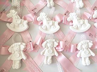 SEGNAPOSTO Bomboniere battesimo nascita con gessetto profumato, orsetti rosa celeste lilla beige ecrù PERSONALIZZAZIONI A ...