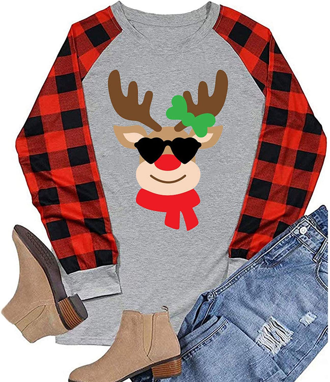 Hotkey 2021new shipping free Women's Fashion Sweatshirts Red Casual Long Sleeve New item Plaid