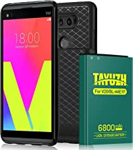 LG V20 Battery | TAYUZH 6800mAh Li-ion Replacement LG V20 Extended Battery with Replace Back Cover & Soft TPU Case for LG V20 BL-44E1F H910 H918 LS997 US996 VS995-24 Month Warranty