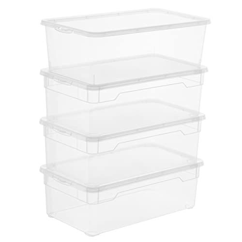 Berühmt Aufbewahrungsbox mit Deckel Kunststoff: Amazon.de RV06