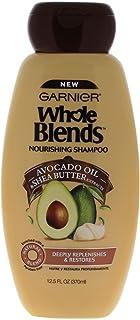 Garnier Whole Blends Nourishing Shampoo with Avocado Oil & Shea Butter Extracts, 12.5 fl. oz.