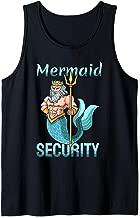 Mermaid Security Art   Gift For Grandpa Dad Brother Men Tank Top