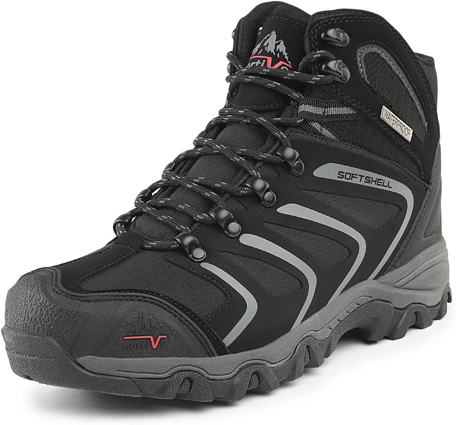 NORTIV 8 Men's Men's Ankle High Waterproof Hiking Boots Outdoor Lightweight shoes Backpacking Trekking Trails