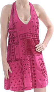Intimately Womens Country Nights Embellished Mini Halter Dress