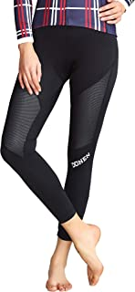 DONEN Women's Windproof Cycling Pants 3D Padded Breathable Tights Leggings Outdoor Long Bike Bicycle Pants