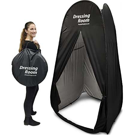 Pop-up Shower Tent,Upgraded Vertical Horizontal Instant Portable Outdoor Dressing /&Sleeping Tent,Pop Up Pod Changing Room Privacy Tent for Camping /& Beach,Easy Set Up,Foldable with Carry Bag