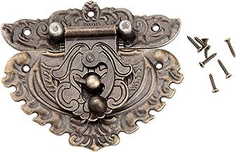 Nologo SSB-JIAOLIAN, 1 stuk 86x75mm antiek brons grendel en sluitbeugel massieve haak gespen kleine sluiting voor houten k...