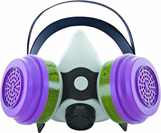 Sperian 375884 Survivair Gray 3000 Series Half Mask Respirator with MC/P100 Cartridges and Filters, Gray, Large