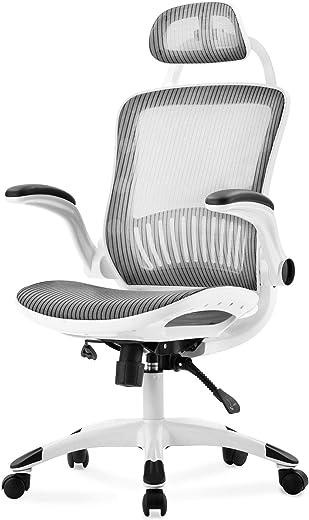 Merax Bürostuhl,Ergonomischer Schreibtischstuhl,Computer Stuhl drehstuhl mit Netz-Design-Sitzkissen,mit hoher Rückenlehne und Verstellbarer…