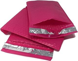 Shop4Mailers 4 x 7 粉色聚乙烯气泡袋自封信封袋 50 Pack 粉红色