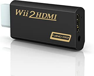 Wii to hdmi Converter, Gana wii to hdmi Adapter, wii to hdmi1080p 720p Connector Output Video & 3.5mm Audio - Supports All Wii Display Modes.