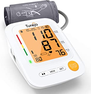 Blood Pressure Monitor for Upper Arm - Turejo Accurate Digital Automatic BP Monitor for Home Use with Large Display and Portable Cuff, Monitoring high blood pressure and Irregular Heartbeat