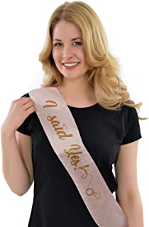 Best rose gold sashes hen party Reviews