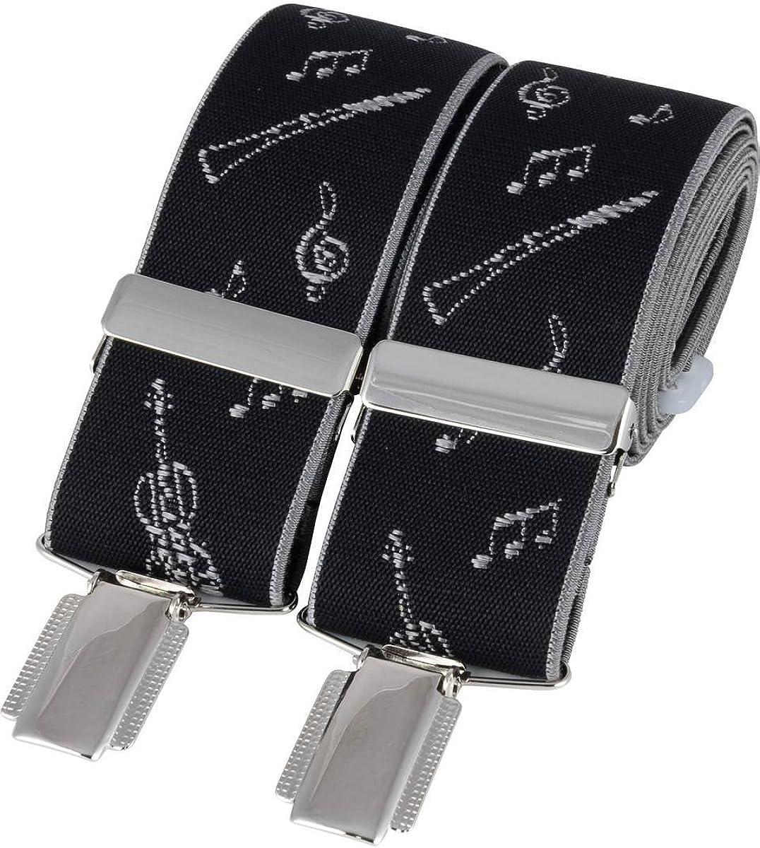 David Van Hagen Mens Instruments Braces - Black