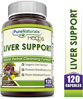 Pure Naturals - Liver Support Dietary Supplement - 372.340 Milligrams - 120 Capsules - Promotes Overall Liver Health - Supports Your Detoxification Efforts