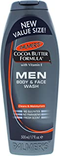 Palmer's Cocoa Butter Men Body and Face Wash for Men, 17 Ounce