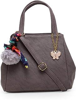 Butterflies Handbag For Women's & Girl's (Grey) (BNS 0728GY)