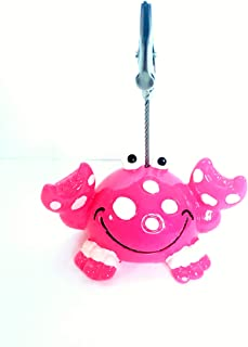 United Novelty Bingo Admission Ticket Holder- Happy Pink Crab