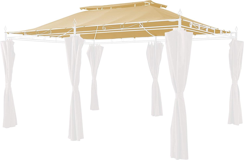 GRASEKAMP Qualitt seit 1972 Ersatzdach zu Garten-Pavillon Inca 3x4 Beige Party-Zelt Terrassen-Dach