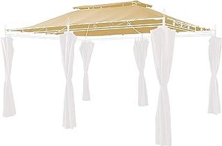 GRASEKAMP Qualität seit 1972 Ersatzdach zu Garten-Pavillon Inca 3x4 Beige Party-Zelt Terrassen-Dach