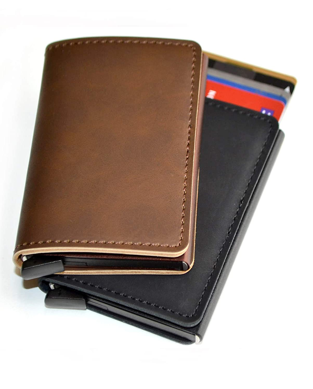 plantobiz カードケース メンズ 財布 小型 スキミング防止 磁気防止 スライド式 8枚 クレジットカード RFIDブロック トラベル 旅行