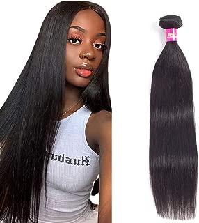 Straight Brazilian Human Virgin Hair 1 Bundle (16 inch) Deals Natural Black Color 100% 8A Grade Unprocessed Brazilian Human Hair Bundles Soft And Tangle Free USOFT