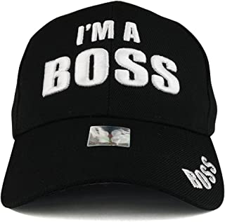 Trendy Apparel Shop Boss 3D Puff Embroidered Structured Adjustable Baseball Cap