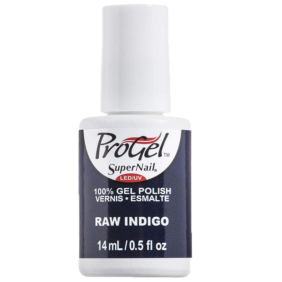 腐敗項目キャリアSuperNail ProGel Gel Polish - Raw Indigo - 0.5oz / 14ml