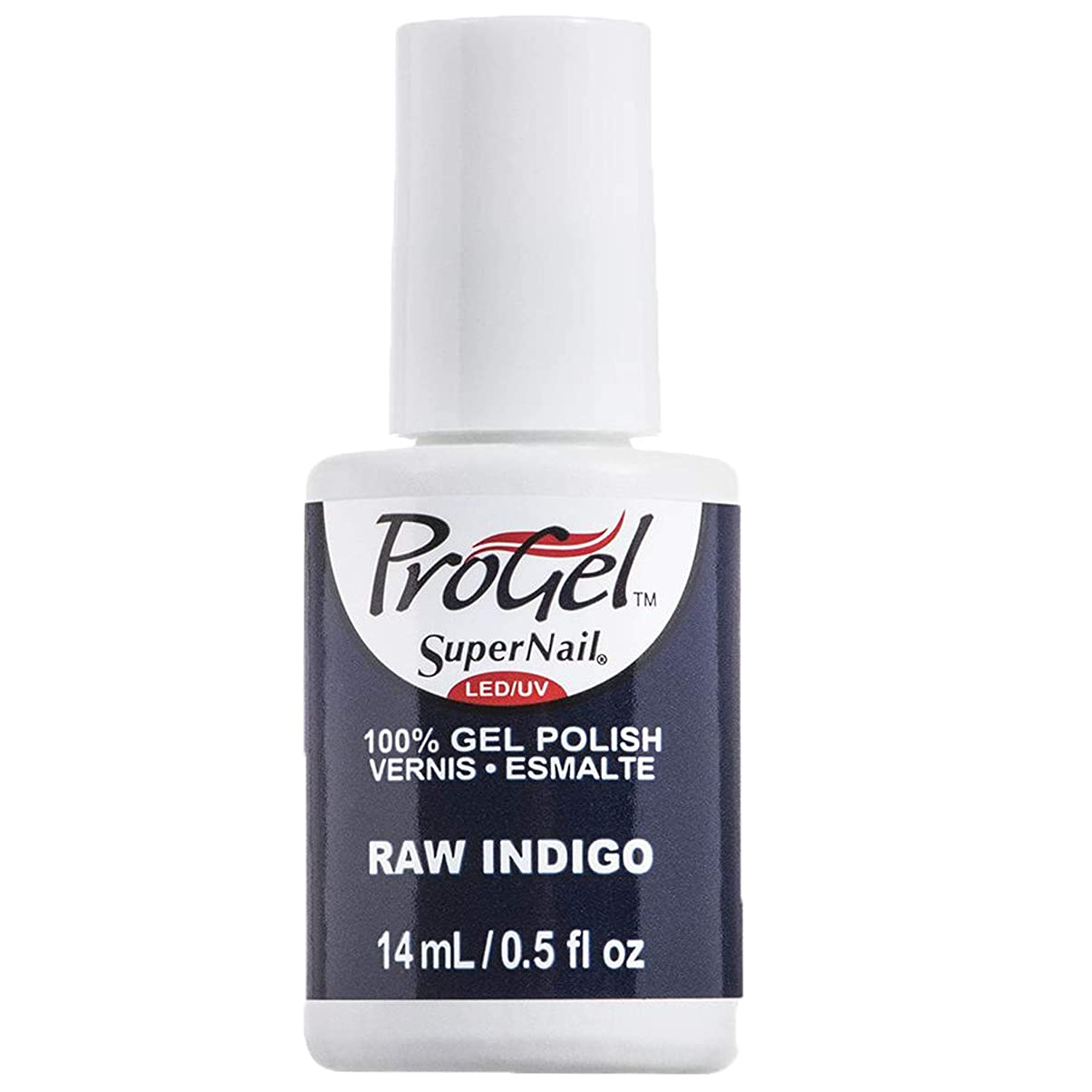 シーサイド保証単独でSuperNail ProGel Gel Polish - Raw Indigo - 0.5oz / 14ml