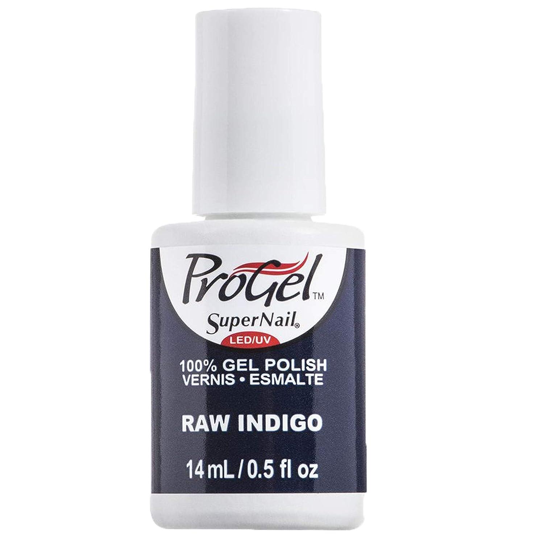 ペース勧める劣るSuperNail ProGel Gel Polish - Raw Indigo - 0.5oz / 14ml