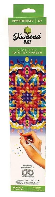 Leisure Arts - Diamond Art Sparkle Art Diamond Paint by Number Blue Mandala Kit – 5D Pixel Painting DIY Arts and Crafts for Kids Canvas Wall Decor