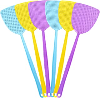 """HAREOOS 6 Pack Fly Swatters, Plastic Fly Swatter Multi Pack, 17.5"""" Long Handle Manual Swat Mosquitoes Fly Swatters, Strong..."""