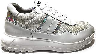 Keys K-801 Sneaker Woman Bianco, Scarpe Casual Stringate da Donna, Shoes