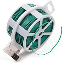 KLOUD City 328 Feet (100m) Green Multi-Function Sturdy Garden Plant Twist Tie with Cutter/Cable Tie/Zip Tie/Coated Wire (1) (1 roll Green)