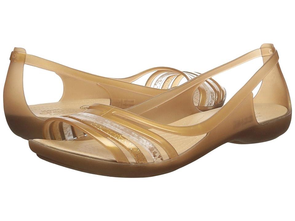 Crocs Isabella Huarache Flat (Bronze) Women