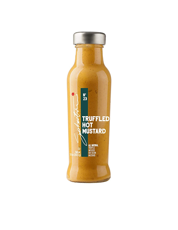 Sabatino Tartufi Truffle Hot Mustard All Natural Gourmet With a Kick Infused With Black Truffles (Kosher, Vegan, Vegetarian), Dijon Mustard, 10 Oz