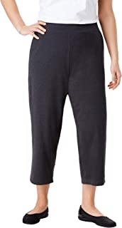 Woman Within Women's Plus Size Everywear Essential Cropped Pant