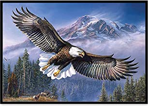 5D Diamond Painting Kits Full Drill Diamond Embroidery - Eagle,Eagle,11.81x15.74inch