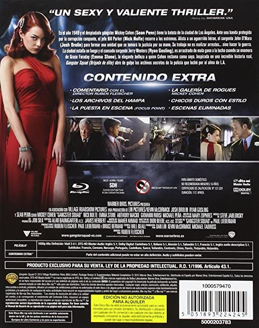 Gangster Squad Digibook Blu-Ray [Blu-ray]
