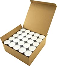 Stonebriar Long Burning 6-7 Hour Unscented Tea Light Candles, White, Bulk 100 Pack