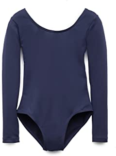 Elowel Kids Girls' Basic Long Sleeve Leotard (Size 2-14...