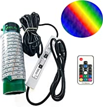 Green Blob Outdoors Multi-Color Fishing, Pool Light (Includes Red, Green, Blue, Yellow, White, Orange, Purple & More) Underwater, w/ 30ft Cord, LED, Fish Attractor, (7,500 3-Prong Plug, Multi-Color)