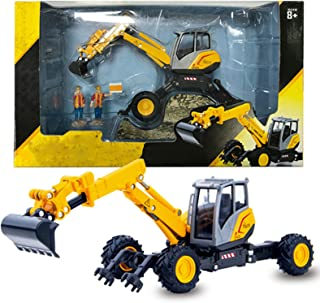 1/50 Scale Die-Cast Excavator Truck Engineering Vehicle Construction Tractor Alloy Models Toys for Kids