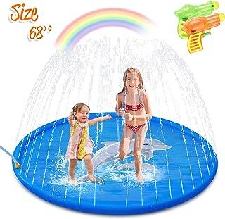 Minto toy [2020 Updated] Splash Pad, Sprinkler for Kids Sprinkler Pad Water Toys Mat for..