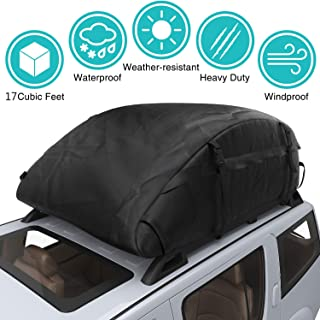 Car Top Carrier Waterproof Rooftop Cargo Carrier Bag Includes Heavy Duty Straps for Vehicle Car Truck SUV Vans,Travel Cargo Bag Box Storage Luggage (17 Cubic Feet( 43'' x 34'' x 17'' )- Thickened)