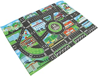 HOMYL Kids Road Traffic Play Mat Rug Toy Carpet Playmat Baby Children Developmental - for Playing with Toy Cars Trucks & Train Gifts #B