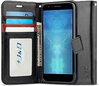 J&D Compatible para LG K30 Funda, LG K10 2018 Funda, [Bloqueo de RFID] [Soporte Plegable] Funda Pesada Resistentes Billetera para LG K30, LG K10 (Release in 2018) Funda Cuero - No para LG K10 2017