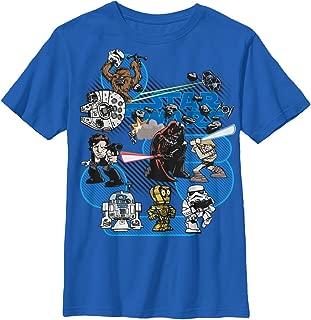 Star Wars Boys' Big Cartoonized Character Group Logo Graphic Tee