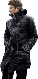 モッズコート メンズ ロングマンパー マウンテンパーカー コート ミリタリー 2カラー ブラック グリーン 黒 緑 ロングコート 2019